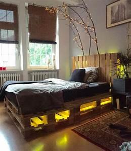 Interieur Ideen Mit Europaletten Bett