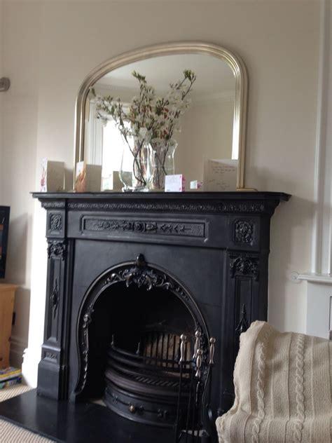 beautiful iron fireplace   mantle mirror