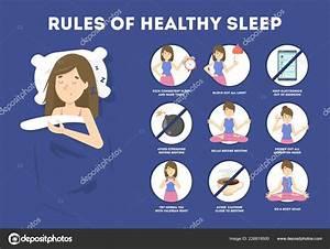 Rules Of Healthy Sleep  Bedtime Routine For Good Sleep  U2014 Stock Vector  U00a9 Inspiring Vector Gmail