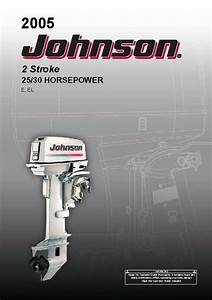 Johnson Outboard Owners Manual 2005 2  25  U0026 30 Hp