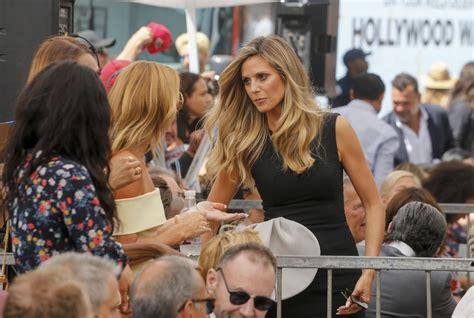 Heidi Klum Simon Cowell Honored With Star The