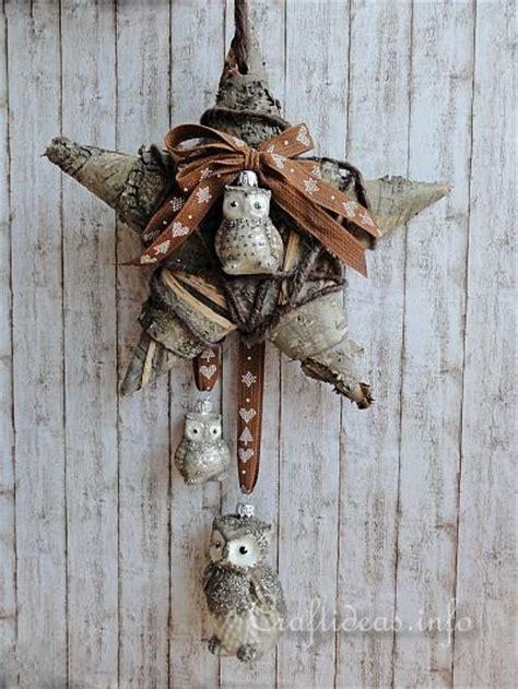 christmas decoration tree bark star  owl wall  door