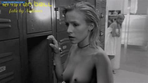 Kristen Bell Nipples Mega Dildo Insertion