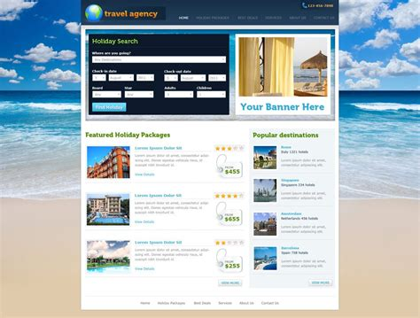 Php Homepage Template by Travel Website Template Free Travel Agency Website
