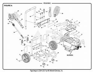 Homelite Ps141912 Powerstroke Pressure Washer Mfg  No  090079295 Parts Diagram For Figure A
