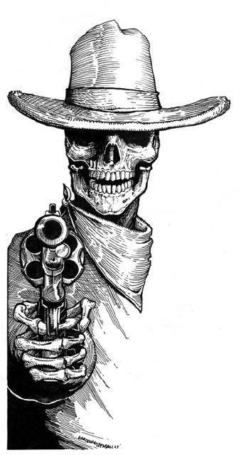 DW FRYDENDALL | D.W. Frydendall in 2019 | Skull tattoos, Skull art, Cowboy tattoos