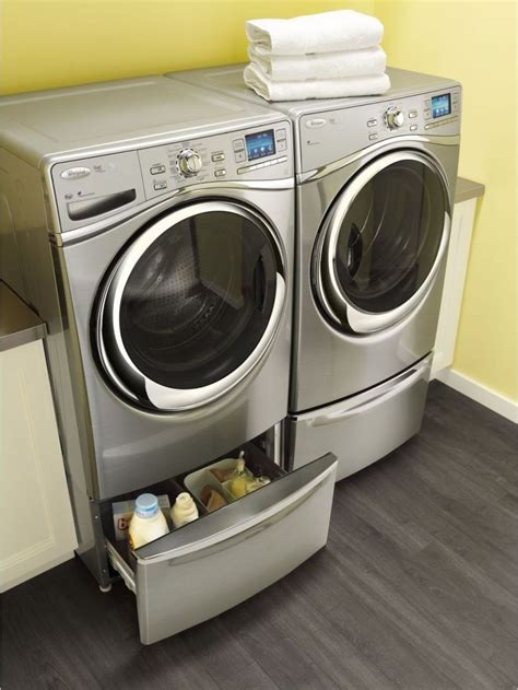 whirlpool washer dryer load front duet cu ft silver electric washers smart laundry sku designerappliances