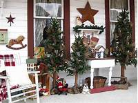 country christmas decorations ~SuesJunkTreasures~: ~Rustic Country Christmas on my front ...