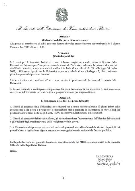Test Ingresso Scienze Formazione Primaria by Test Scienze Della Formazione Primaria 2017 Il Bando