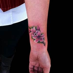 Cool Cherry Blossom Tattoo Designs On Wrist | Full Tattoo