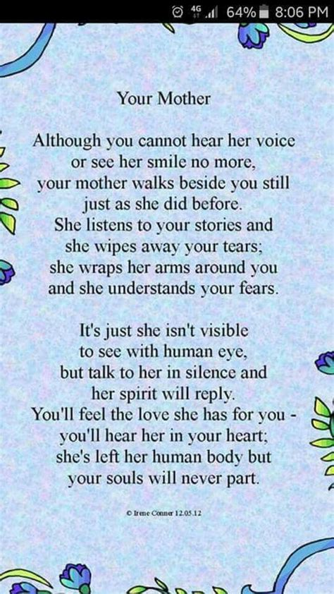 poem  deceased mothers mom poems mother quotes