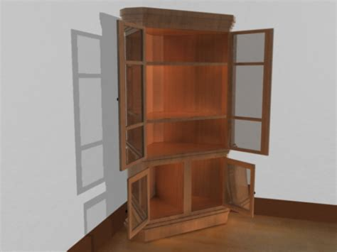 Cupboard Models For by Corner Cupboard Wood Home Furniture Obj Obj Software