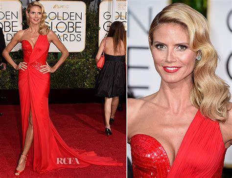 Heidi Klum Atelier Versace Golden Globe Awards