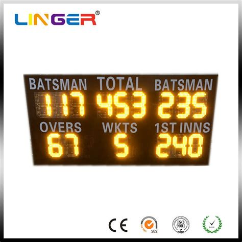 Commercial Led Cricket Scoreboard Electronic Sports