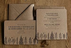 recycled brown letterpress wedding invitations artcadiacopy With wedding invitations recycled brown paper