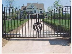 10 best images about driveway entrance on pinterest oak With wrought iron gate letters