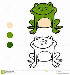 Malbuch Fr Kinder Frosch Vektor Abbildung