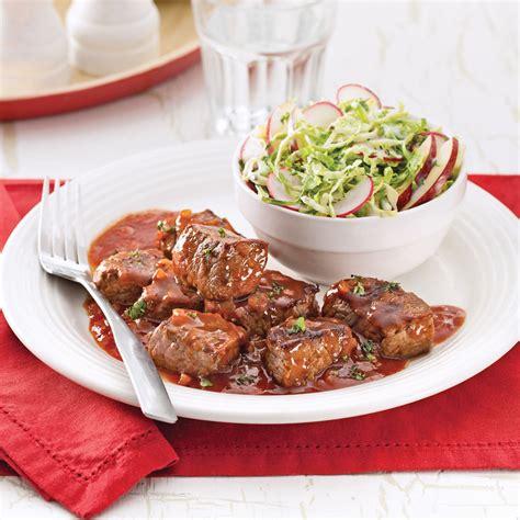 cuisine recettes pratiques cubes de boeuf barbecue recettes cuisine et nutrition pratico pratique