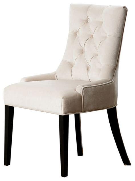 abbyson living maverick tufted dining chair fabric