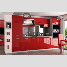 Kaufexpert  Küchenzeile Moderno Rot Hochglanz 300 Cm