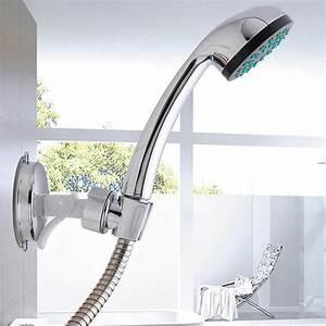 Shower, Head, Handset, Holder, Chrome, Bathroom, Wall, Mount, Adjustable, Suction, Bracket