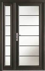 porte d39entree lotus en aluminium droite poussant haut2 With porte d entrée largeur 120