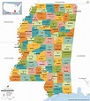 Buy Mississippi County Map