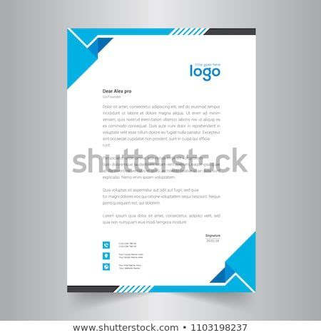 Simple Blue Color Vector Letter Head Template with
