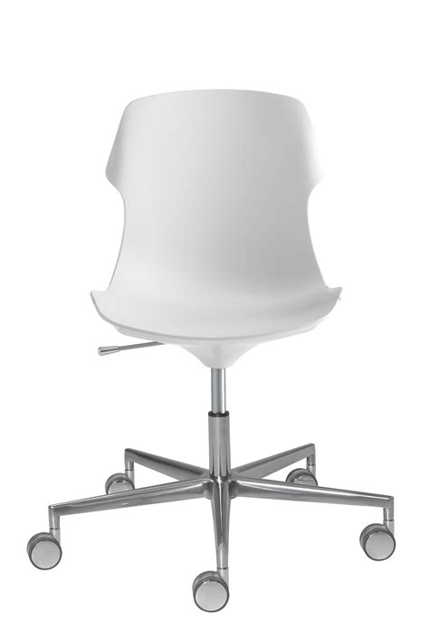 chaise bureau blanche stereo armchair on casters with castors adjustable