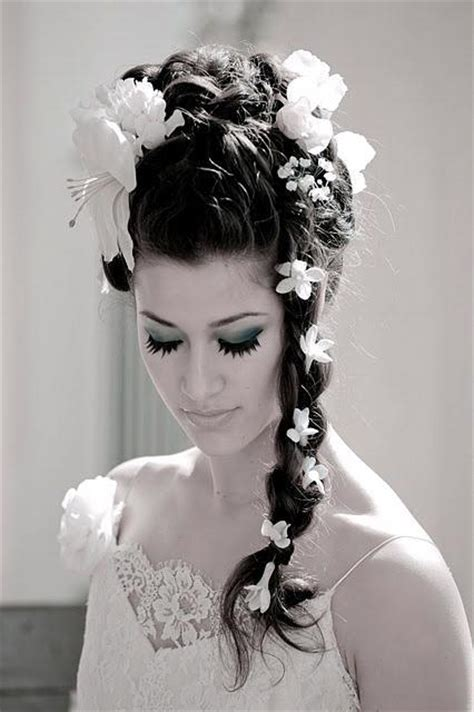 The Northern Bride Wedding Hairstyles With Flowers