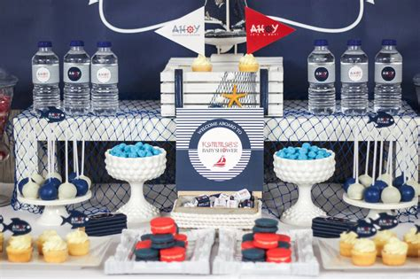 Nautical Baby Shower Decorations For Home: Fancy Nautical Baby Shower : Ahoy Nautical Baby Shower
