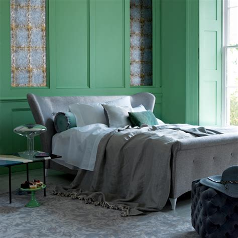 green and gray bedroom master bedroom ideas ideal home 15469 | Green and Grey Bedroom Livingetc Housetohome