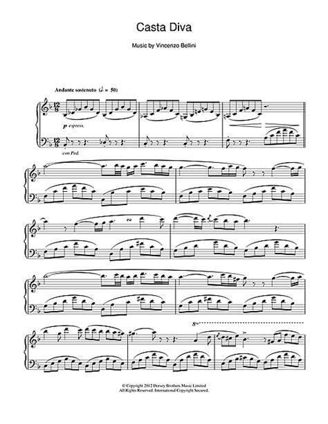 Testo Casta Casta Sheet By Vincenzo Bellini Piano 24448