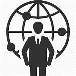 Icon Business Global Communication Leadership Businessman Icons
