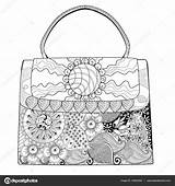 Handbag Coloring Purse Pages Template Bag Templates Sketch sketch template