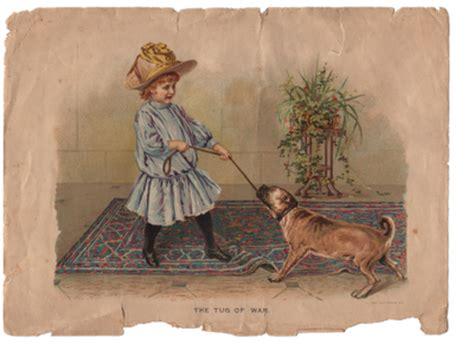 vintage clip art girl  dog great texture