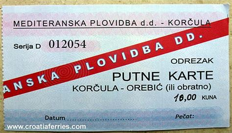 Ferry Boat Orebic Korcula by Ferry Ticket Korcula Orebic