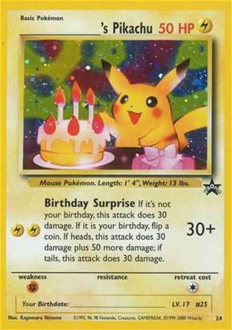 birthday pikachu  holo rare pokemon wizards black