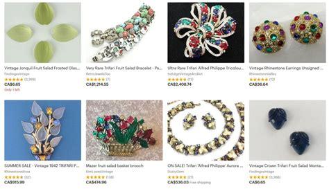 expensive vintage costume jewelry  quick list