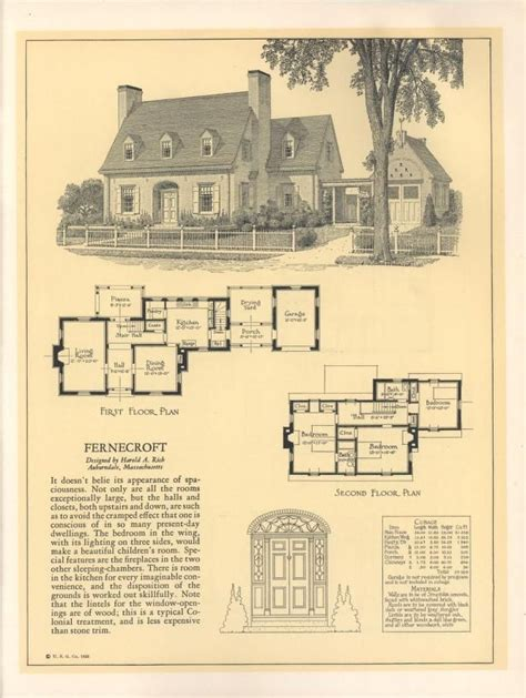 seventy  designs  fireproof homes house plans   house plans vintage house
