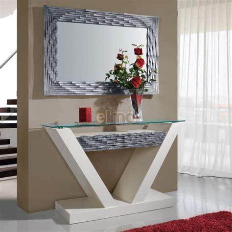 commode d angle chambre console entrée contemporaine avec miroir plateau verre dalhia