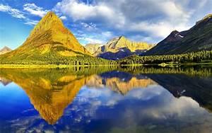 Nature, Landscape, Reflection, Mountain, Glacier, National, Park, Wallpapers, Hd, Desktop, And
