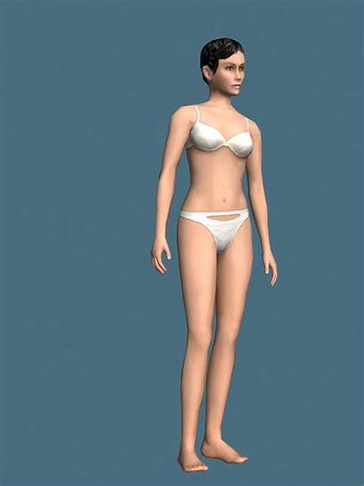 Underwear Woman Rigged Panties 3ds Cadnav Models