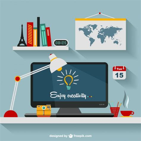 graphic design bureau designer 39 s office flat illustration vector free