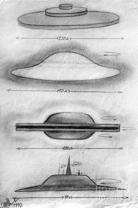 variety of ufo shapes and sizes. Part 1 Drawing by Sofia ...