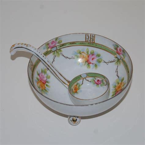 cabinet rising sun vintage handpainted nippon rising sun bowl and ladle 5070