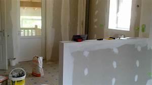 Bar Séparation Separation Cuisine Salon : cr ation de cuisine am ricaine ml isolation youtube ~ Dallasstarsshop.com Idées de Décoration