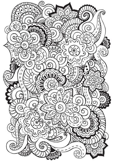 doodle background  vector  flowers paisley black