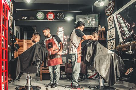 images adults barber barbershop business city cut facial expression group hair