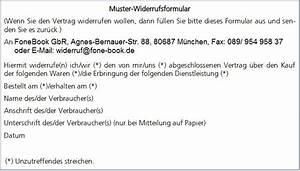 Gefälschte Telekom Rechnung Per Post : fonebook gbr muster widerrufsformular ~ Themetempest.com Abrechnung